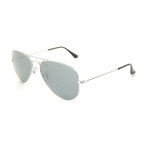 Ray-Ban RB3025-55 Aviator Sunglasses, 55mm Silver Grey