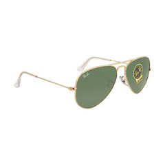 Ray-Ban RB3025-55 Aviator Sunglasses, 55mm Arista G-15 Green