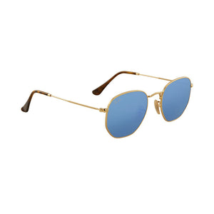 Ray-Ban RB3548N-51 Hexagonal Flat Sunglasses, 51mm Blue Gradient