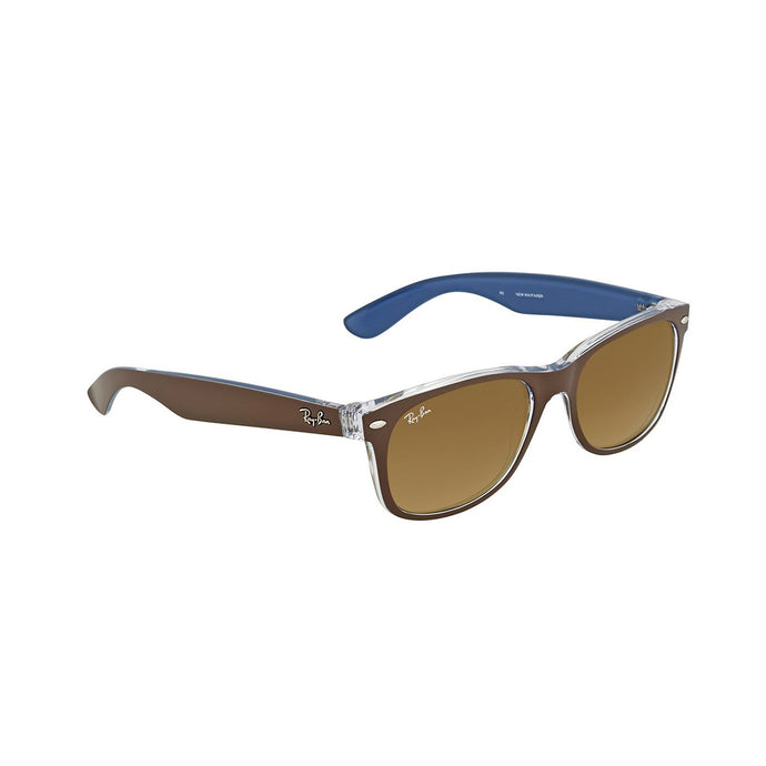 Ray-Ban RB2132-55 New Wayfarer Sunglasses, 2-Tone Brown Clear / Gradient