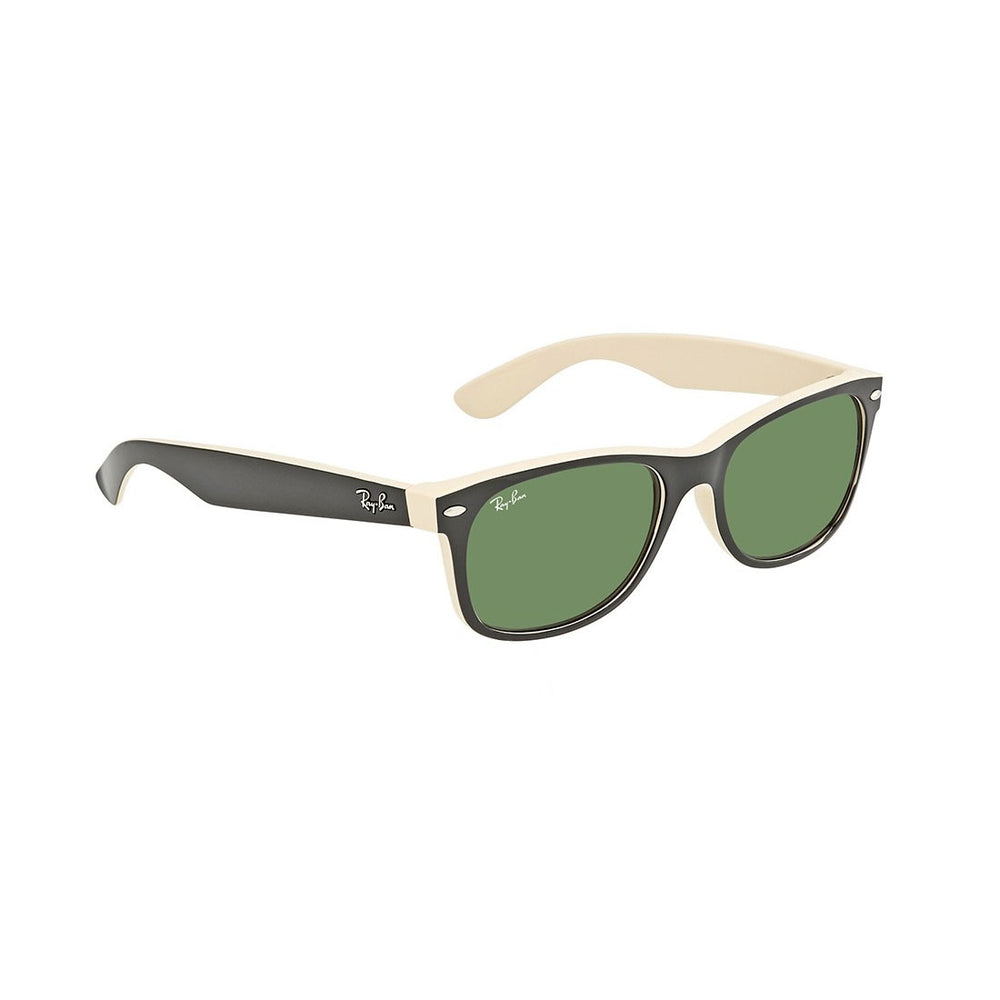 Ray-Ban RB2132-55 New Wayfarer Sunglasses, 55mm 2-Tone Black & Beige / G-15 Green
