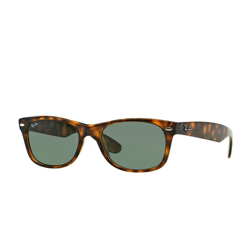 Ray-Ban RB2132-52 New Wayfarer Sunglasses, 52mm Brown Tortoise / G-15 Green Lens