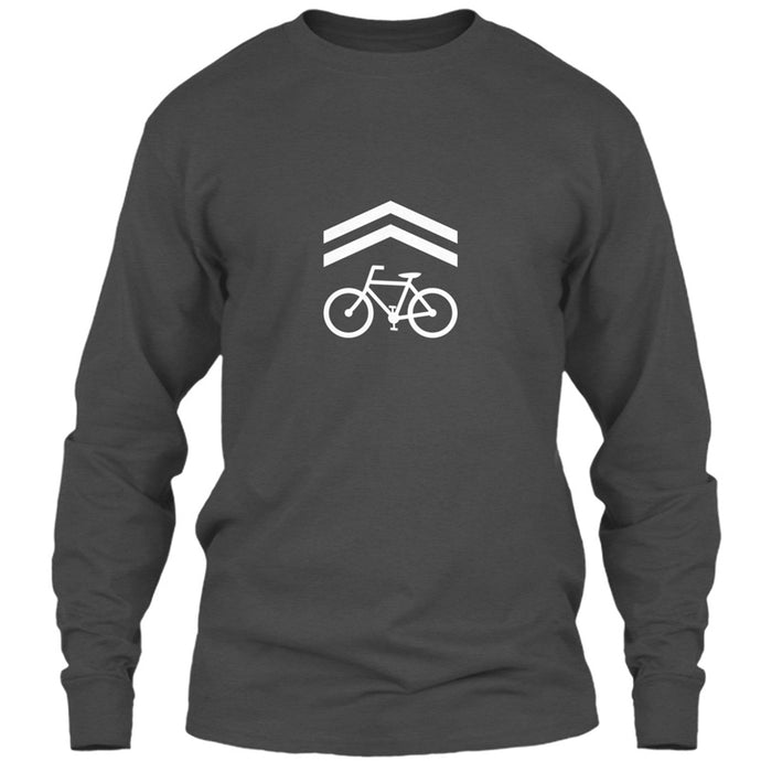 Bike Lane T-Shirt - Long Sleeve Gray