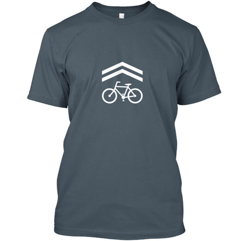 Bike Lane T-Shirt - Short Sleeve, Charcoal w/Back Text - CLEARANCE