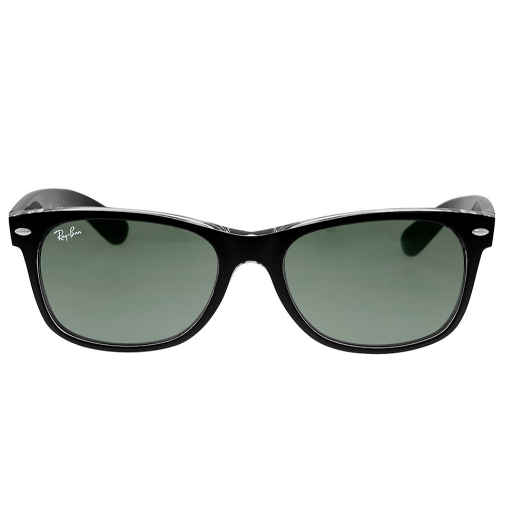 Ray-Ban RB2132-52 New Wayfarer Sunglasses, 52mm Black Clear / G-15 POLARIZED