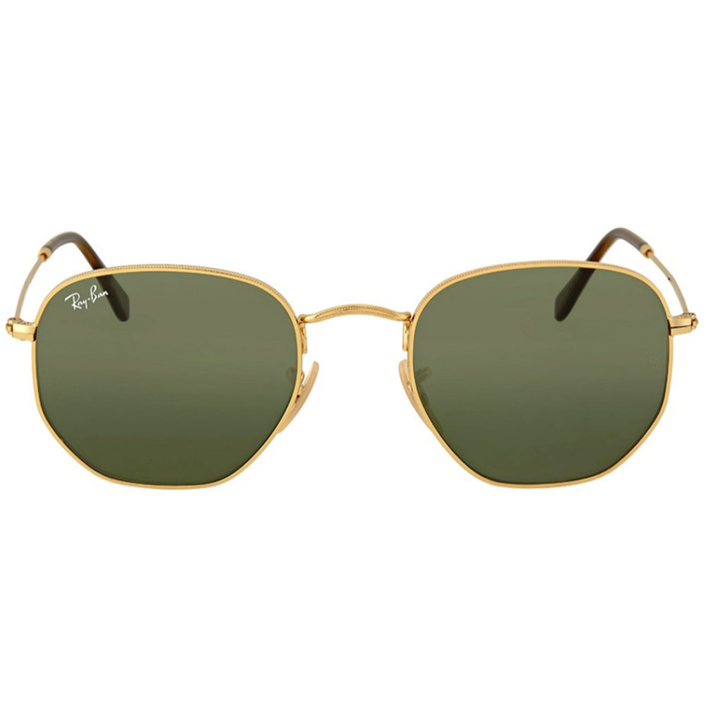 Ray-Ban RB3548N-48 Hexagonal Flat Sunglasses, 48mm Green G-15