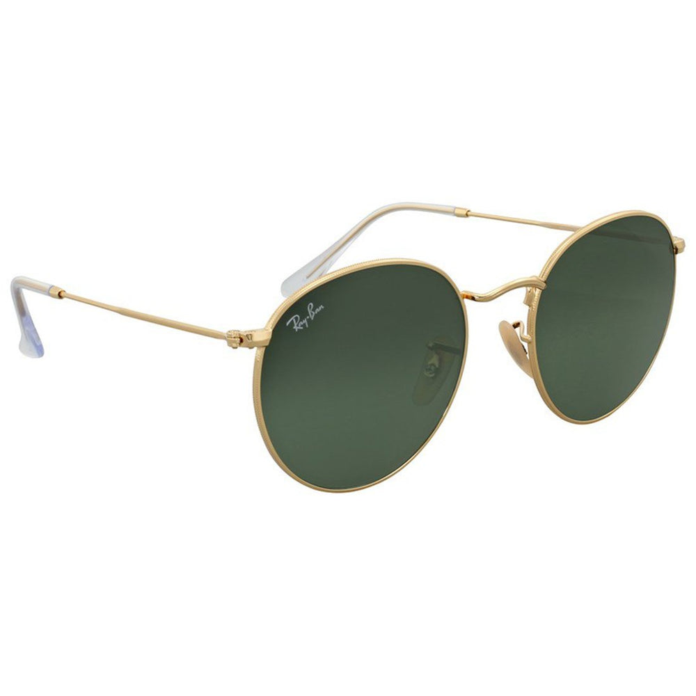 Ray-Ban RB3447-53 Round Sunglasses, 53mm Classic G-15 Green