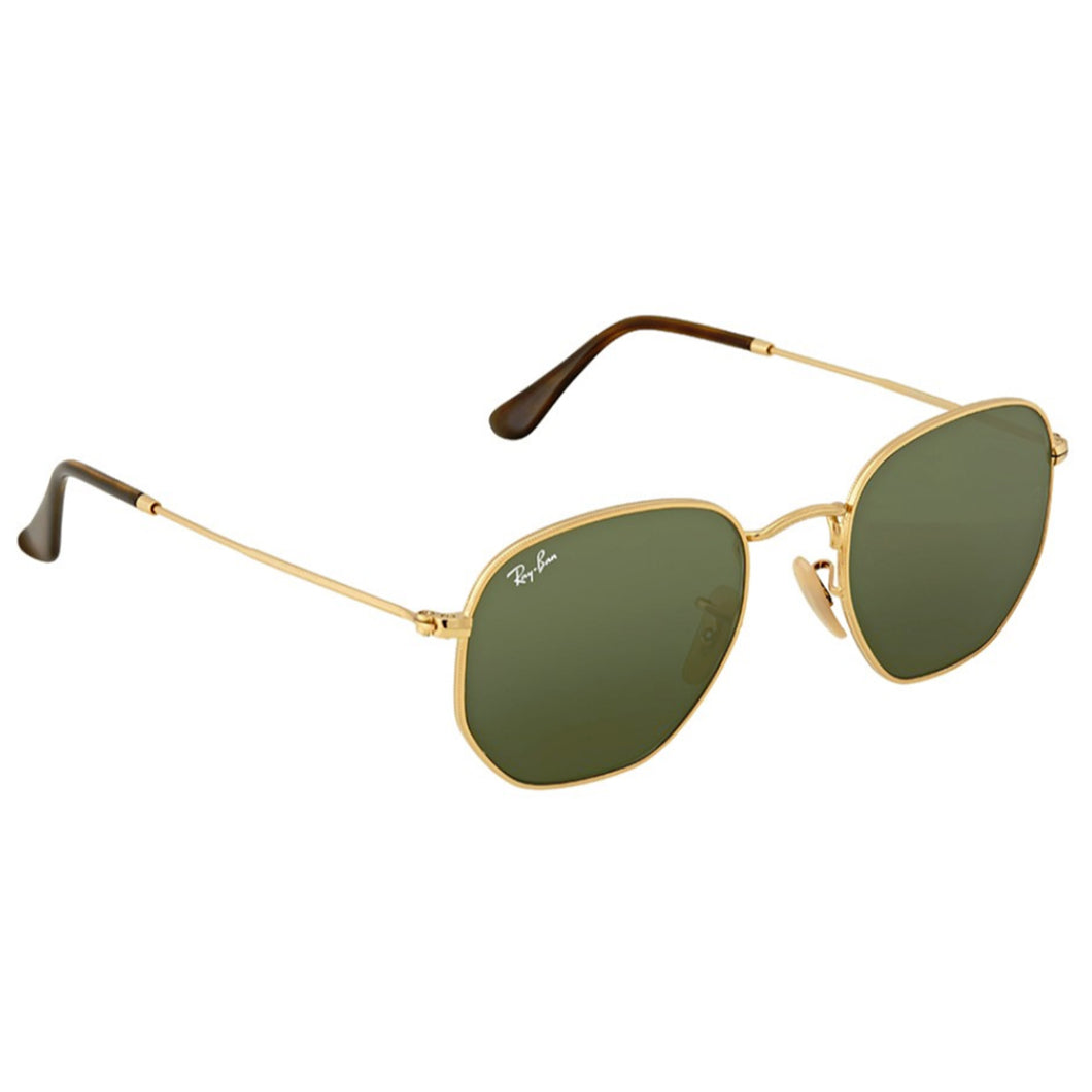 Ray-Ban RB3548N-54 Hexagonal Flat Sunglasses, (Large) Green G-15