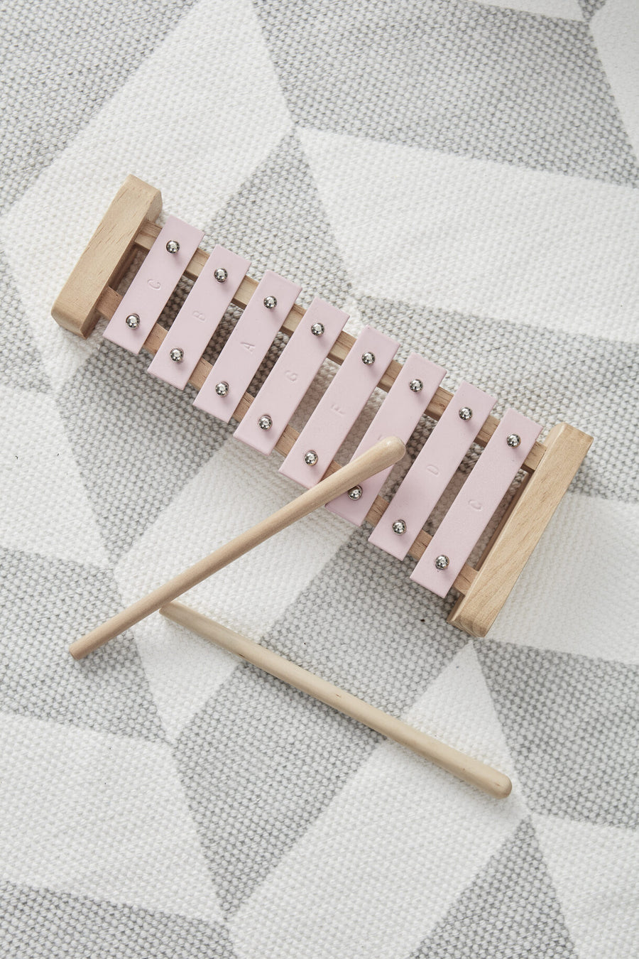 Kids Concept, Wooden Pink Xylophone