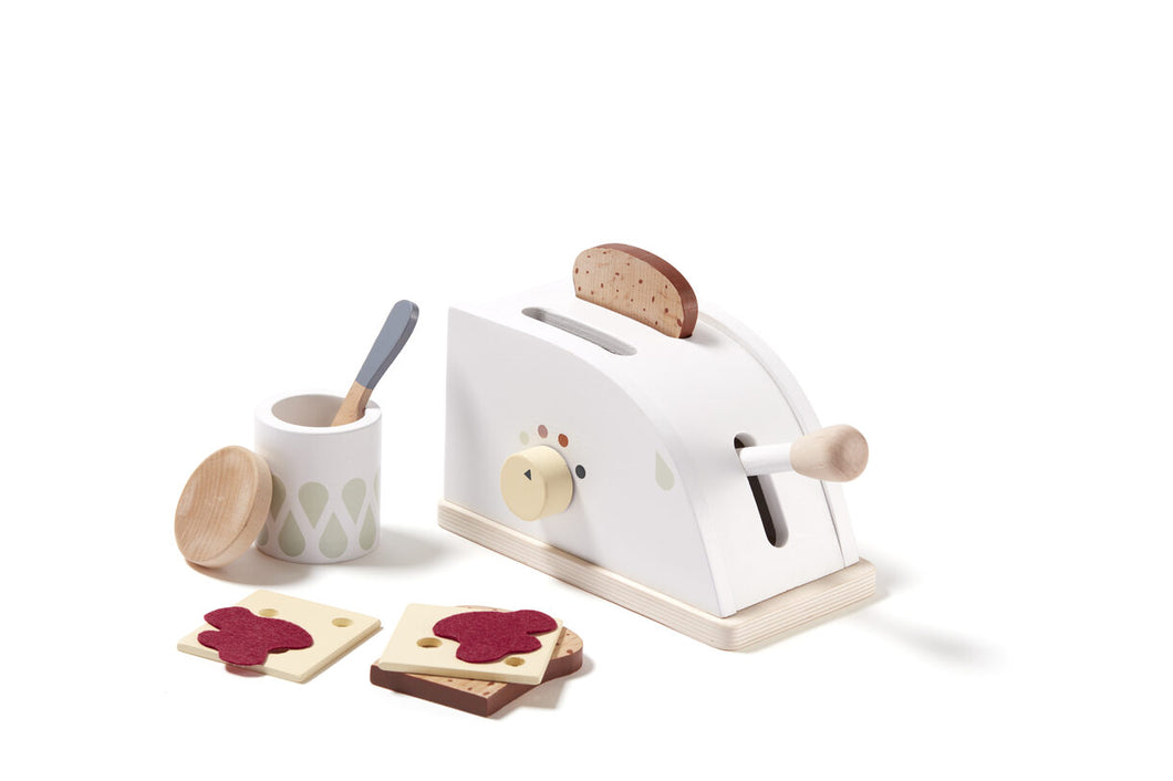 Kids Concept, Wooden Toaster Set - Bygge Bo