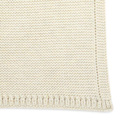 The Little Green Sheep, Organic Knitted Cellular Baby Blanket - Bygge Bo