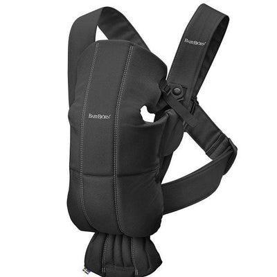BabyBjorn, Baby Carrier Mini Black, Cotton