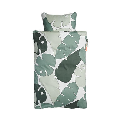 Done by Deer, Bedlinen Junior fits 140cm x 70cm Cot Bed, Tiny Tropics - Bygge Bo