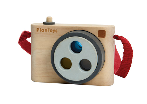 Plan Toys, Coloured Snap Kids Wooden Camera - Bygge Bo