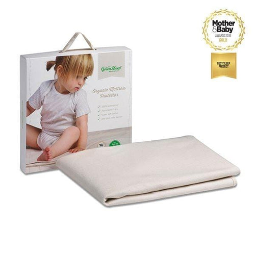 The Little Green Sheep, Organic Cot Bed Mattress Protector - Bygge Bo