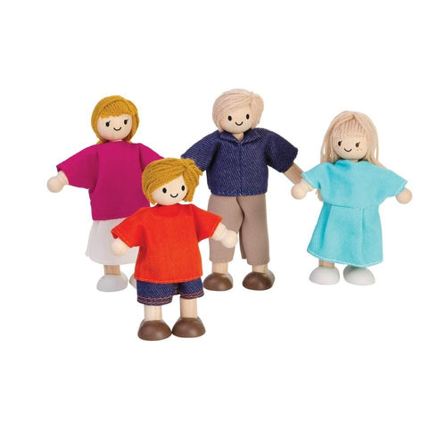 Plan Toys, Wooden Doll Family - Bygge Bo