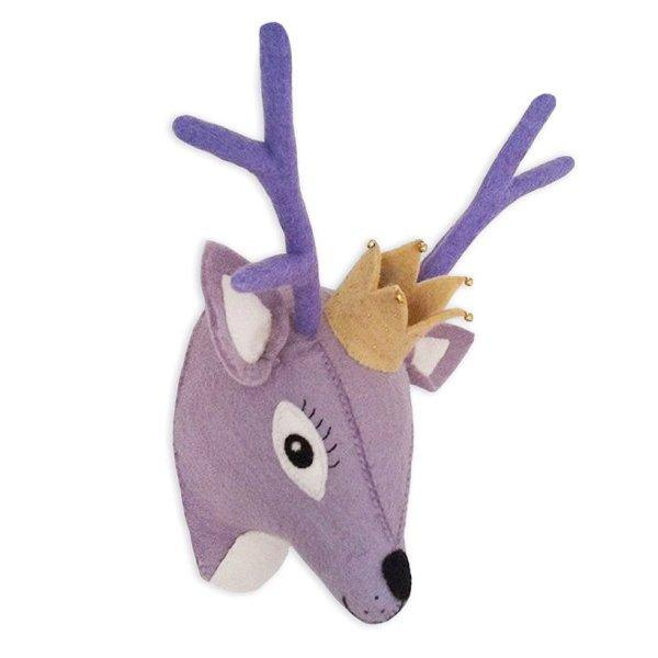 Animal Head, Deer, Purple