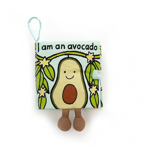 Jellycat, Avocado Soft Book - Bygge Bo