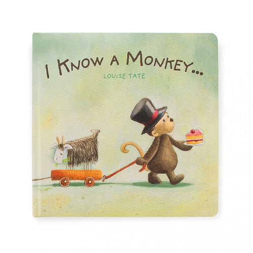 Jellycat, I know a Monkey Book - Bygge Bo