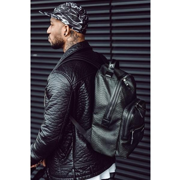 Tiba & Marl, Elwood Backpack Anthracite Snake