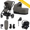 Cybex, Balios S 2-in-1, Bumper Travel Bundle w/ Aton M (Grey) - Bygge Bo