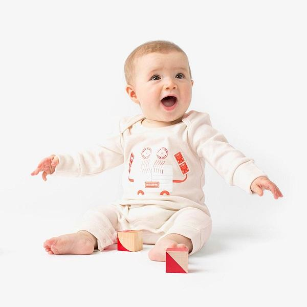 From Babies with Love, Crab Organic Baby Grow - Bygge Bo