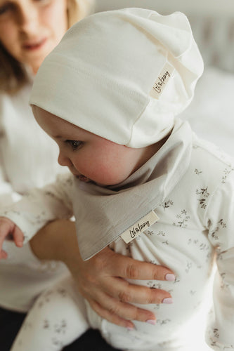 Lil&Izzy, Organic Cotton Knotted Hat Cream