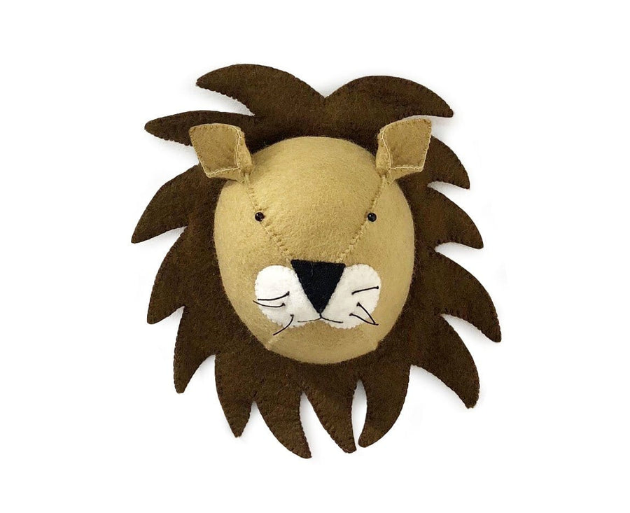 Felt Animal Head Wall Decor, Lion - Bygge Bo