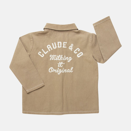 Claude & Co, Embroidered Worker Jacket Chocolate - Bygge Bo