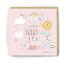 Load image into Gallery viewer, Lucy & Lolly, A Beautiful Baby Girl, Card - Bygge Bo
