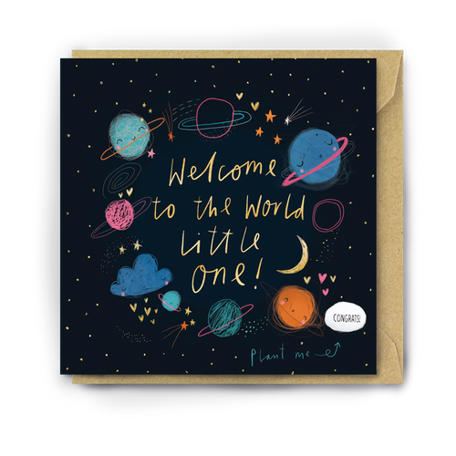 Lucy & Lolly, Welcome to the World Little One, Card - Bygge Bo