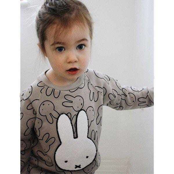 Tobias & the Bear, Miffy Badge Loopback Sweatshirt - Bygge Bo