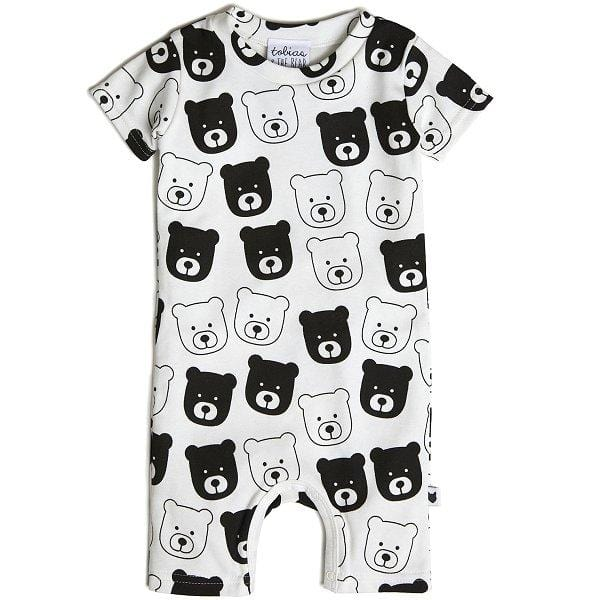 Tobias & the Bear, Bear Short Romper - Bygge Bo