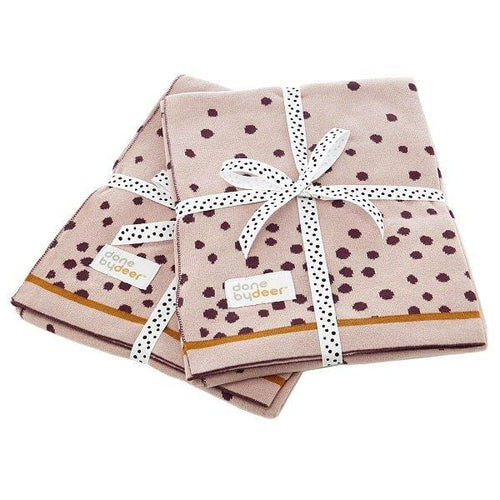 Done by Deer, Happy Dots Knitted Blanket - Bygge Bo