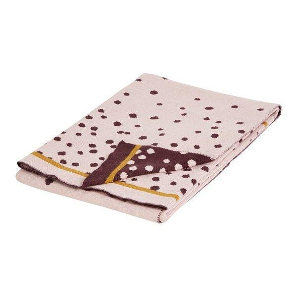 Done by Deer Happy Dots Baby Blanket in Pink