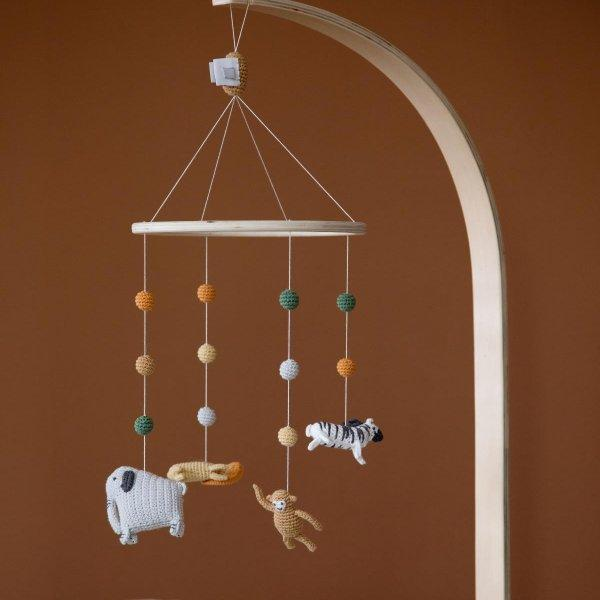 Sebra, Wildlife Hand Crocheted Baby Mobile - Bygge Bo