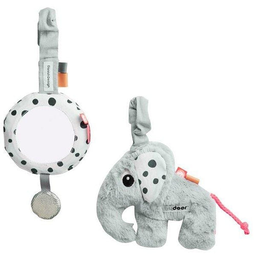 Done by Deer, Soft Elphee To-Go Activity Set - Bygge Bo