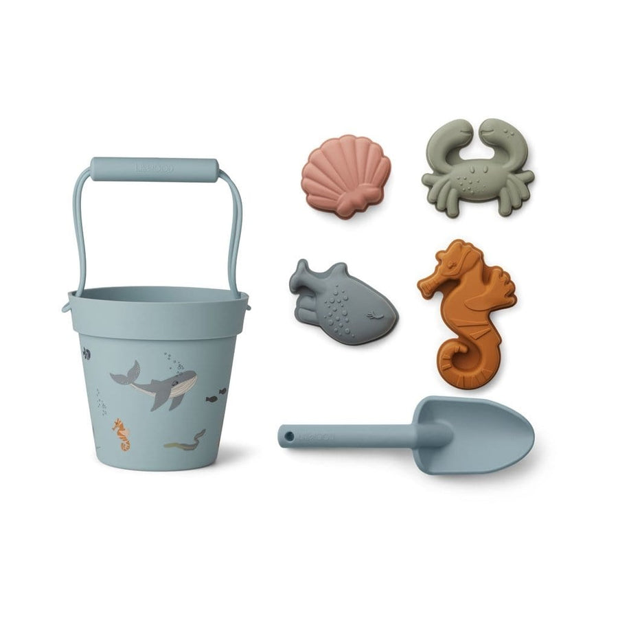 Liewood, Dante Beach Bucket Set - Sea Creature Mix