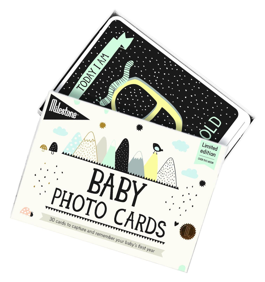 Milestone Cards, Over the Moon Baby Cards - Bygge Bo
