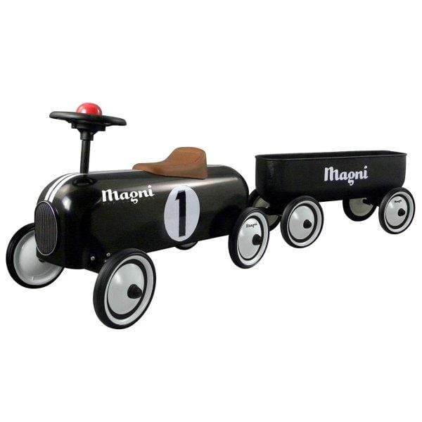 Magni, Classic Ride On with Trailer, Black
