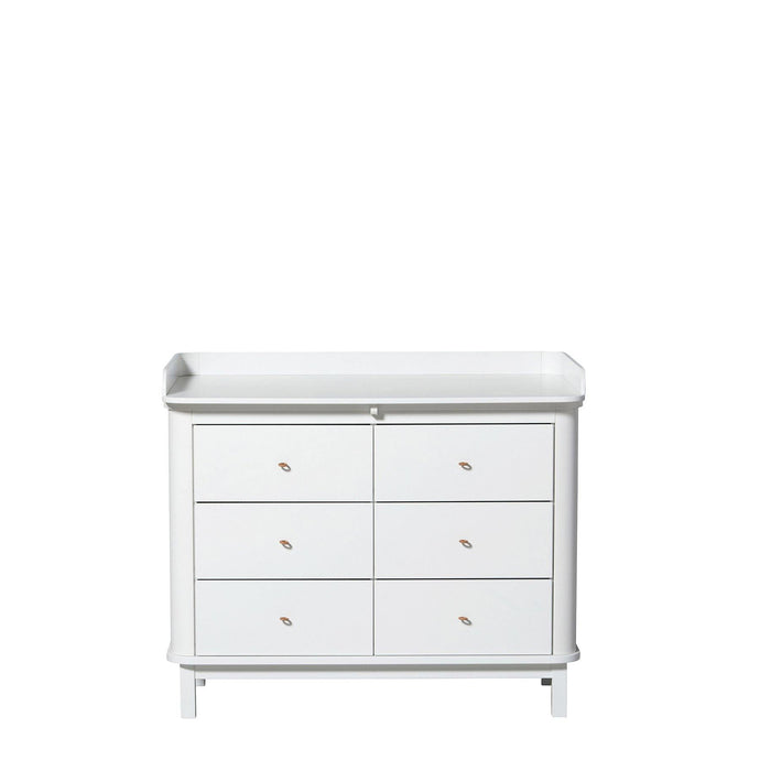 Oliver, WOOD NURSERY DRESSER 6 DRAWERS W. TOP LARGE