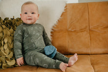 Load image into Gallery viewer, Lil&Izzy, Cotton Zip Baby Grow, Khaki Hedgehog Print