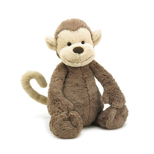 Jellycat, Bashful Monkey Medium Size - Bygge Bo