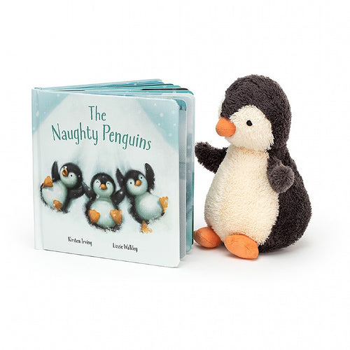 Jellycat, The Naughty Penguins Gift Book - Bygge Bo