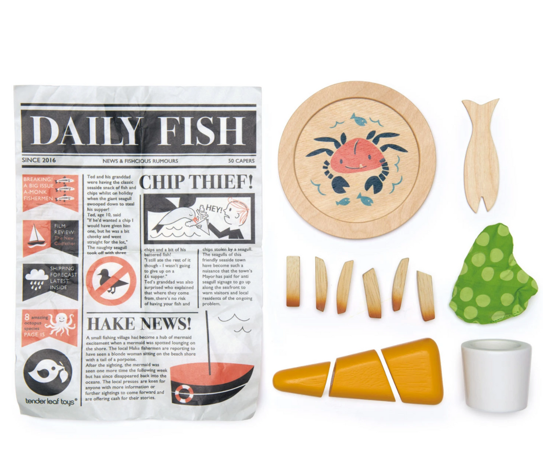 Tenderleaf, Fish & Chips Set - Bygge Bo