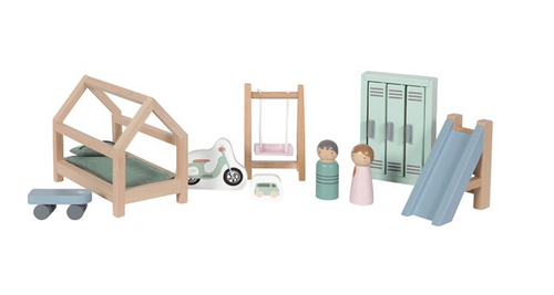 Little Dutch, Dolls House Playroom Set - Bygge Bo