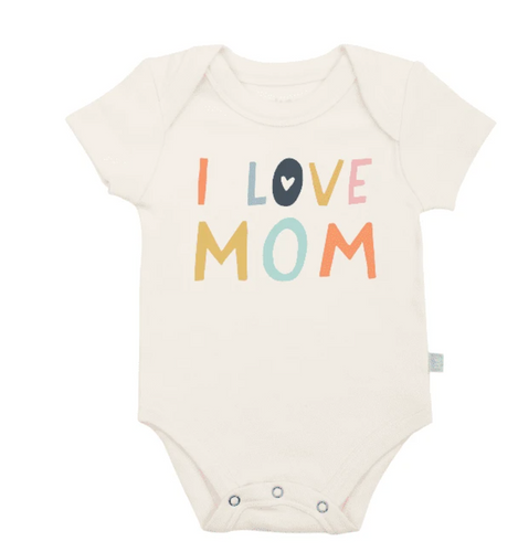 Finn & Emma, Graphic Print Bodysuit, Love Mom - Bygge Bo