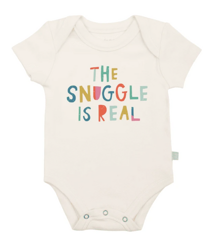 Finn & Emma, Graphic Print Bodysuit, Snuggle is Real - Bygge Bo