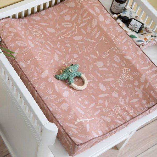 Sebra, Wildlife Collection Changing Cushion - Sunset Pink - Bygge Bo