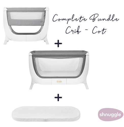 Shnuggle, Air Crib to Cot Complete Bundle - Bygge Bo